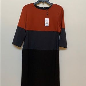 Black, Orange and Grey dress